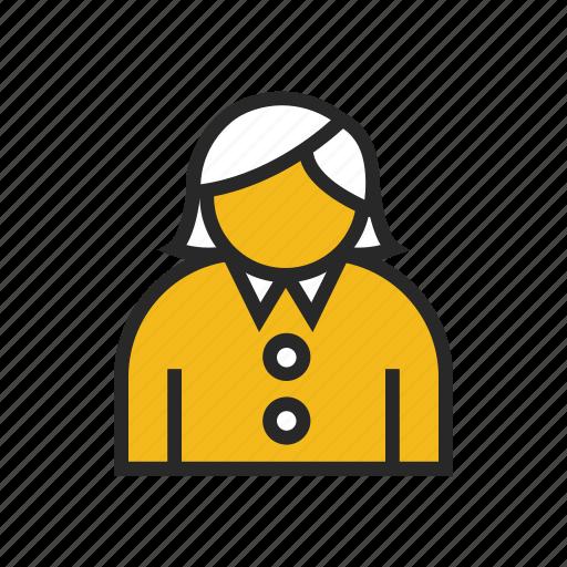 assistant, female, secretary icon