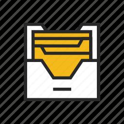 archive, data, document, file, folder, management, paperwork icon