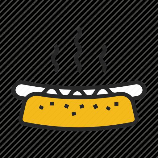 break, eat, hotdog, lunch, meal icon