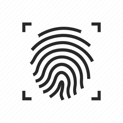biometric, finger, fingerprint, id, identification, identify, identity, safety, scan, security, technology, touch icon