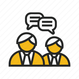 meeting, office, people, person, talk icon