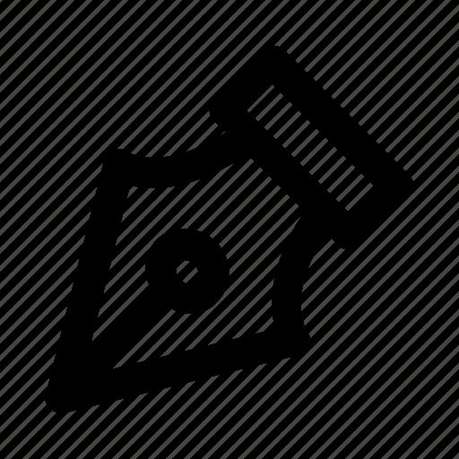 edit, nib, pen, stationary, write icon