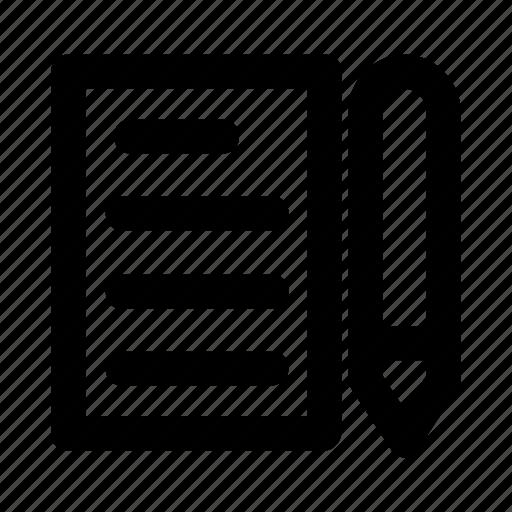 content, edit, pen, pencil, write icon