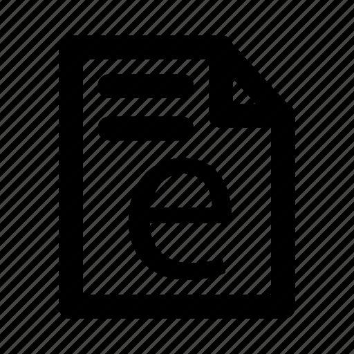 Report, record, document, file, invoice icon
