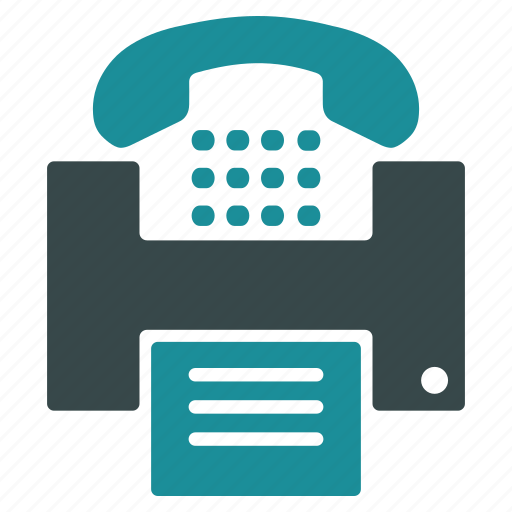 communication, connection, copy, fax, phone, print, telephone icon