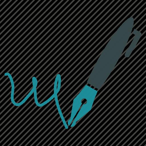 edit, pen, pencil, sign, signature, subscribe, write icon