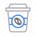 coffee, cold, drink, papercup, tea icon