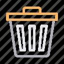 delete, dustbin, recycle, remove, trash icon