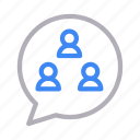 chat, discussion, group, messages, team