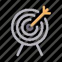 dartboard, focus, goal, success, target icon