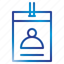 card, employee, equipment, office, tools icon