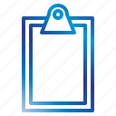 clipboard, equipment, office, tools icon