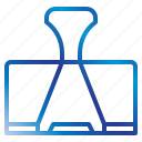 clip, equipment, office, paper, tools icon