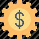 management, business, dollar, finance, gear, money, service