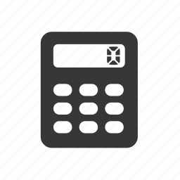 calculator, office supplies, raw, simple icon