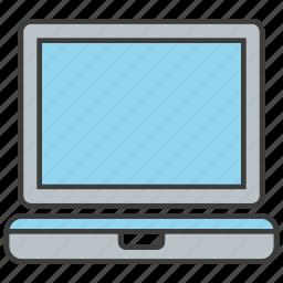 computer, electronic, laptop, monitor, screen, tech icon