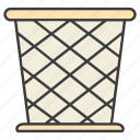 basket, bin, trash icon