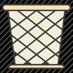 basket, bin, trash icon