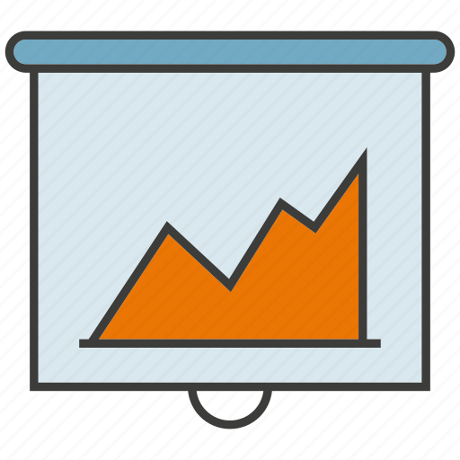 business, chart, data, graph, office, presentation, slide icon