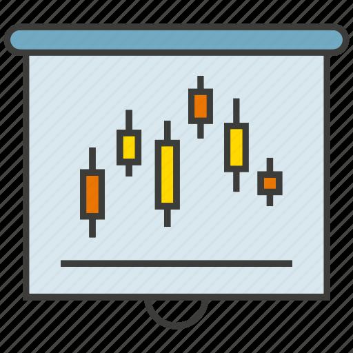 chart, data, graph, plot, presentation, slide, trend icon
