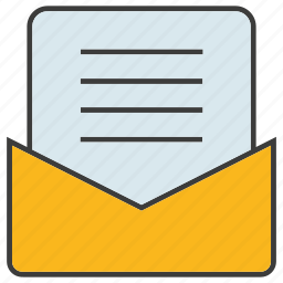 document, email, envelope, letter, paper, send icon