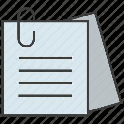 bulldog clip, clip, document, memo, note, paper, paperclip icon