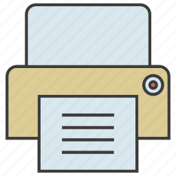 document, electronic, office, print, printer, supply icon