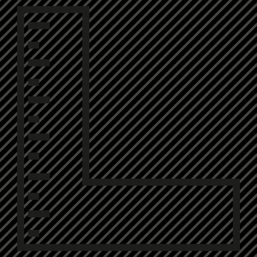 measure, ruler, scale, size, square icon