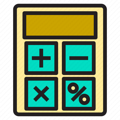 business, calculator, office, supply, tools, working icon