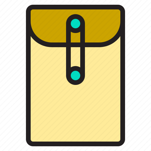 business, envelope, file, office, supply, tools, working icon