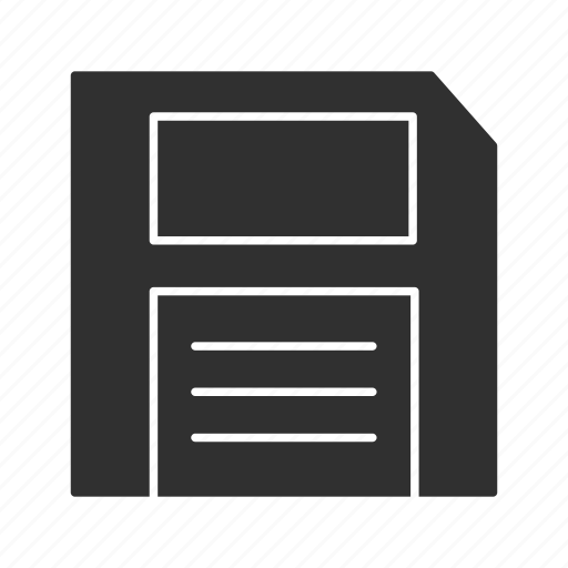 data storage, diskette, file storage, floppy disc icon