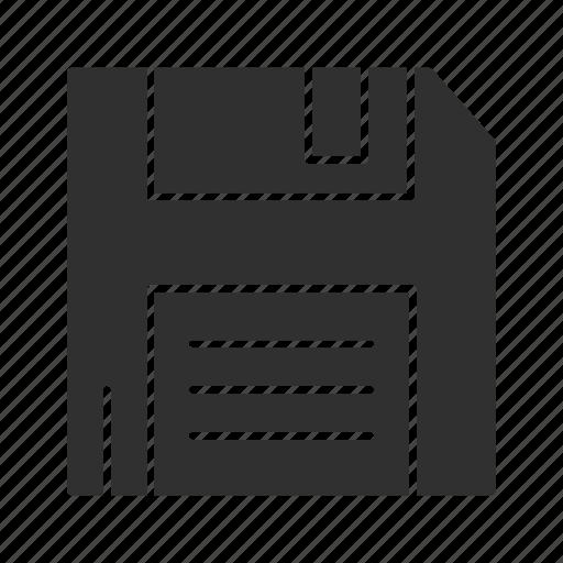 data storage, diskette, file storage, flash drive icon
