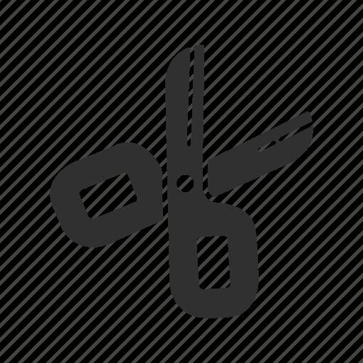cut, paper, school supply, scissor icon