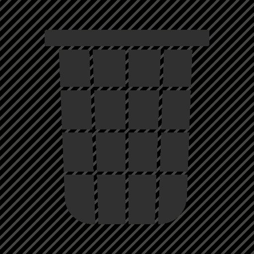 delete, garbage, remove, trash bin icon