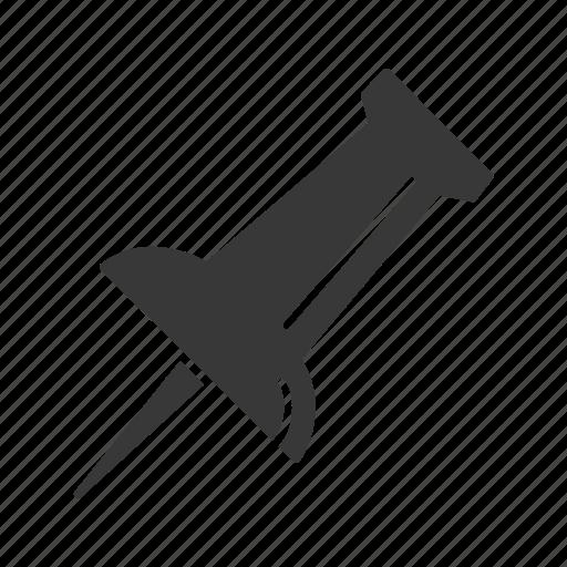 bulletin, pin, post it, tack icon