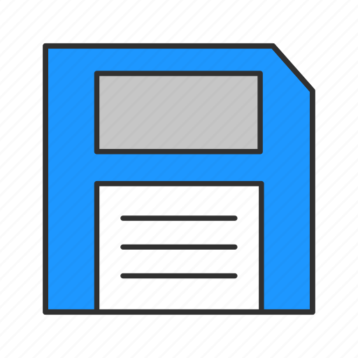 disk, diskette, documents, file icon