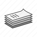 documents, files, papers, text icon