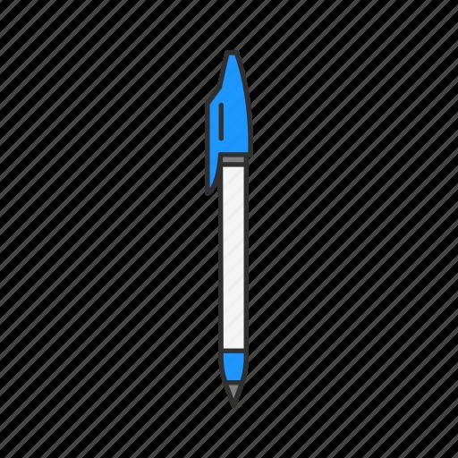 ballpen, draw, text, write icon