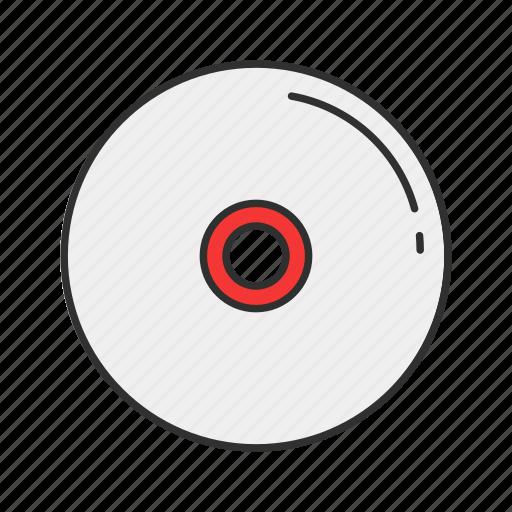 cd, disc, dvd, movie icon