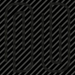 bulldog clip, paperclip icon
