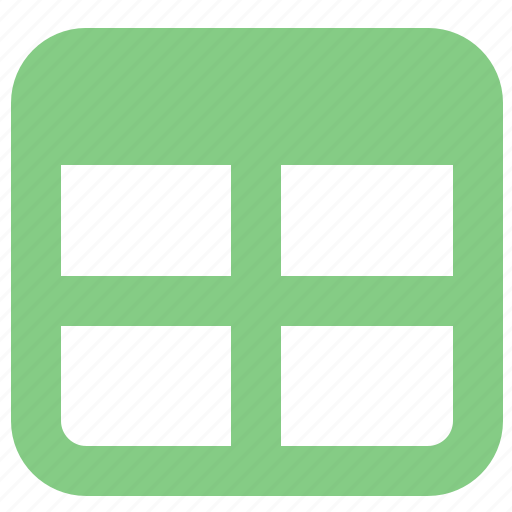 document, form, office, table, window icon