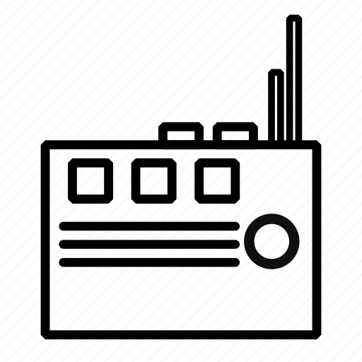 device, hardware, radio, radio frequency icon