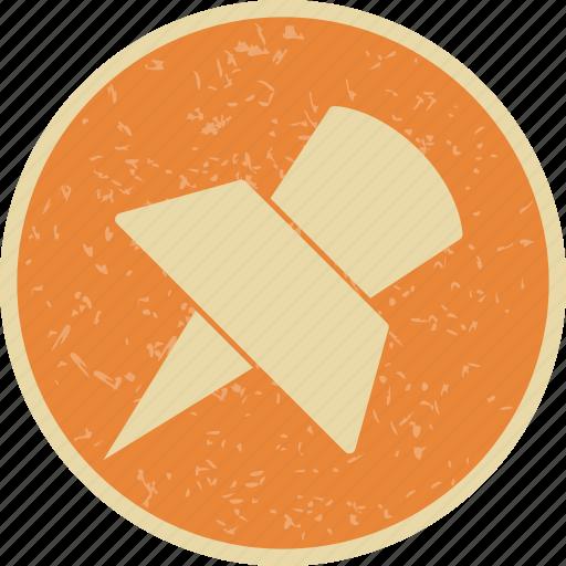 pin, pinned, push pin icon