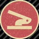 hole, puncher, stationery icon