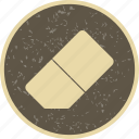 erase, eraser, rubber icon