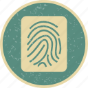 biometric, finger, identification, print icon