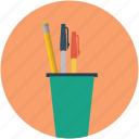 education, pen, pencil, pencil box, pencil case icon