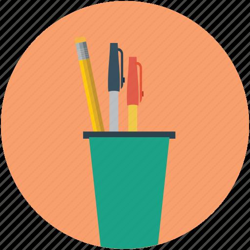 education, pen, pencil, pencil box, pencil case icon