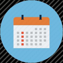 agenda, calendar, date, diary, monthly book, program, schedule icon