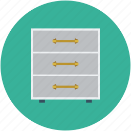 cabinet, draws, filing cabinet, furniture, storage icon